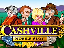 Качественный игровой софт и графика в слоте Cashville от Microgaming